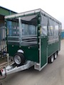 Trailer front and spare wheel