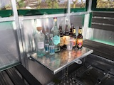 Drop down drinks/food table (Drinks/glasses not included)