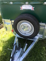 Tow hitch and spare wheel