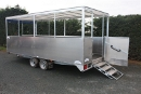Tandem axle, centre line seating trailer