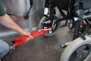 Securing the wheelchair