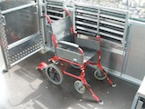 Wheelchair with forward facing seats